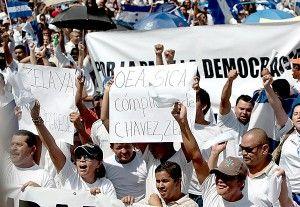 manifestacion en honduras