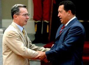 Alvaro Uribe y Hugo Chavez